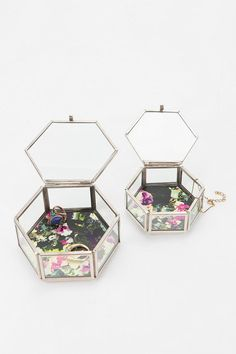 Hexagon Nesting Boxes - Set Of 2  #UrbanOutfitters