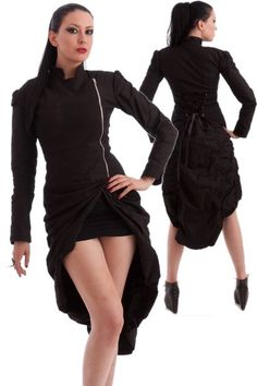 Lalita Draped Corseted Gothic Jacket by Necessary Evil