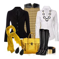 """Yellow Bag #2"" by stylesbyjoey on Polyvore"