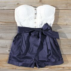 Road Trip Romper in navy, Sweet Affordable Rompers & Dresses from Spool 72. | Spool No.72