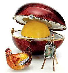 """Ovo Fabergé Kelch """"Galinha"""", 1898"""