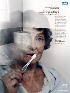 NHS Dementia print ad