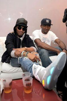 Celebrity Feet: Kid Cudi   Nike Mag 2011