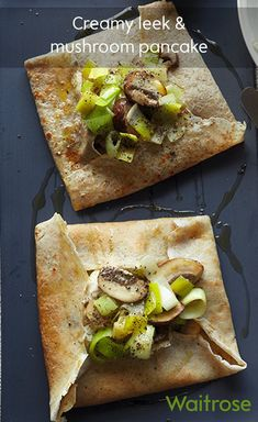 Go savoury and try our recipe for creamy leek and mushroom pancakes – they make a delicious dish for dinner time.