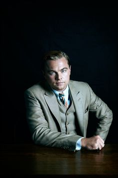 "Leonardo DiCaprio as Jay Gatsby for Baz Luhrmann's ""The Great Gatsby"", photographed by Hugh Stewart."