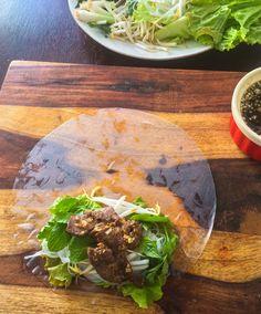 Vietnamese Lemongrass Beef Garden Rolls