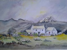 Day 1 David Bellamy landscape, another attempt at watercolour