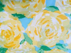 Lilly Pulitzer Sunglow Yellow First Impression fabric piece. Lilly Pulitzer Fabric, Poplin Fabric, Yellow, Painting, Art, Art Background, Painting Art, Paintings, Kunst