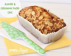 Almond and Cardamom Pound Cake - A Spoonful of Sugar