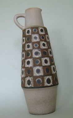 Rockabilly Lava Vase Schlossberg Keramik Höhe 36 cm | eBay