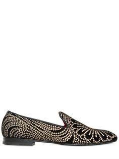 Loto Brocade Velvet Loafers