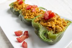 skinny taco stuffed peppers recipe serves 4 serving size 1/2 green pepper under five ingredents