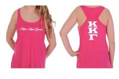 Kappa Kappa Gamma Tank Top with Greek Letters on the back. You will love this sorority tank. Available in X-small. #kappakappagamma #kappa #tanktop #greek #sorority #greekgift #summer #mdsororitygifts