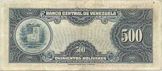 Pieza bbcv500bs-aa04-a6 (Reverso). Billete del Banco Central de Venezuela. 500 Bolívares. Diseño A, Tipo A. Fecha Diciembre 18 1940. Serie A6
