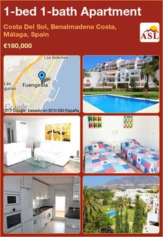 1-bed 1-bath Apartment in Costa Del Sol, Benalmadena Costa, Málaga, Spain ►€180,000 #PropertyForSaleInSpain