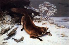 gustave courbet biography | Gustave Courbet >> volpe in neve | (olio, opera d'arte, riproduzione ...