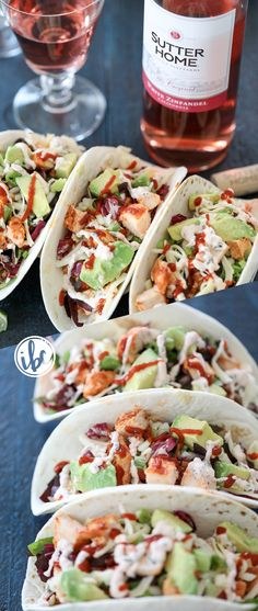 Sriracha Chicken Taco - Pair this spicy sriracha chicken taco recipe with #SutterHome White Zinfandel for the perfect #SweetonSpice combination. #ad @sutterhome