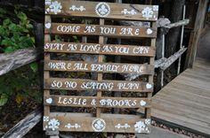 Rustic Wedding Seating Plan.