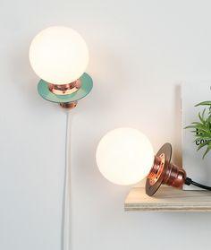 """Nachttischlampen - """"TORCH"""" I HALOGEN LAMP I mobil - ein Designerstück von luuka-shop bei DaWanda"""