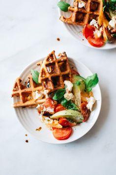 Caprese Burrata Waffles   Kale & Caramel