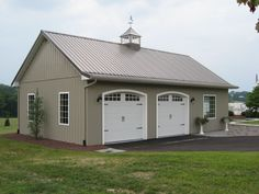detached garage ideas | 12' X 24' Barn/gambrel Shed/garage Project Plans -Design #31224