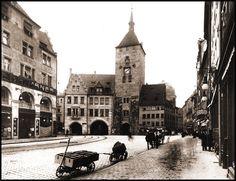Weißer Turm in Nürnberg um 1906.