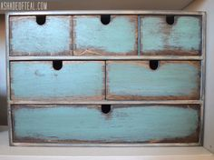 Another IKEA Update- Turn a old IKEA Moppe Organizer into a modern rustic Makeover | A Shade Of TealMakeover | A Shade Of Teal