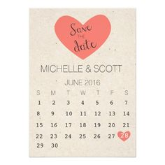 Rustic, Coral Save the Date with Calendar Card. Click through to find matching games, favors, thank you cards, inserts, decor, and more. Or shop our 1000+ designs for all of life's journeys. Weddings, birthdays, new babies, anniversaries, and more. Only at Aesthetic Journeys