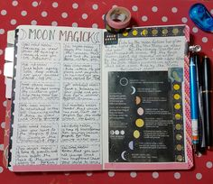 My Moon Magick page. As a Grey Witch (see my other blog) I track the moon phases on both my monthly spreads, in my witch bujo and on this double page spread I've noted down some brief ideas … Wiccan Witch, Magick, Moon Names, Pagan Art, Witch Art, Bullet Journal Inspo, Book Of Shadows, Journal Pages, Bujo