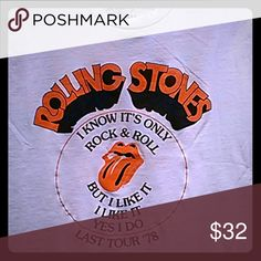 AEO Rock Tshirt Rolling Stones American Eagle Outfitters Tops Tees - Short Sleeve