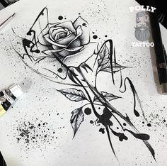 Most Viewed Drawings Tattoo Design Drawings, Tattoo Sketches, Tattoo Designs, Lotus Design Tattoos, Word Tattoos, Body Art Tattoos, Sleeve Tattoos, Male Tattoo, Rosen Tattoo Schwarz