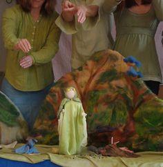Earthy waldorf puppet