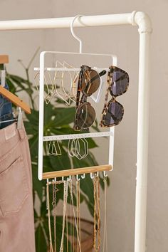 A sleek jewelry organizer you can hang right next to your jackets.