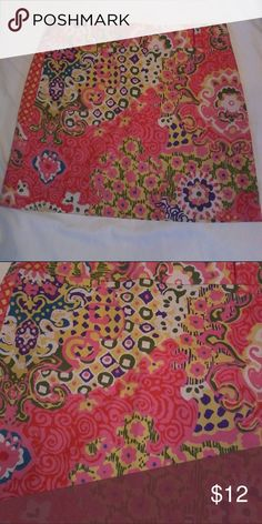 Multi Colored Stretch Skirt Two small front pockets with side zipper. J. Crew Skirts