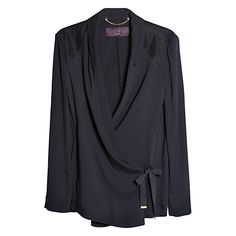 Buy Violeta by Mango Fantasy Contrast Fabric Jacket, Navy Online at johnlewis.com