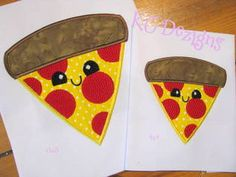 Cheat Day Pizza Applique by www.kcdezigns.com. Free July 2016 Silver Design at www.theappliquecircle.com