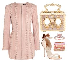 Gold, Rose Gold & Blush by carolineas on Polyvore featuring polyvore, fashion, style, Balmain, Sophia Webster, Dolce&Gabbana, Adolfo Courrier and clothing
