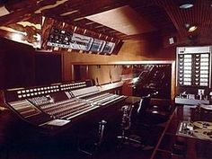 Trident Studios London showing Interior Mixing Desk.