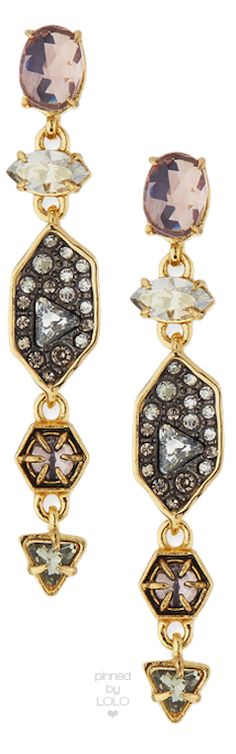 Alexis Bittar Pavé Dangle Shield Earrings | LOLO❤︎