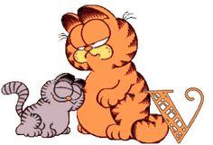 Alfabeto Animado de Garfield con Nermal haciéndole mimos.   Oh my Alfabetos!
