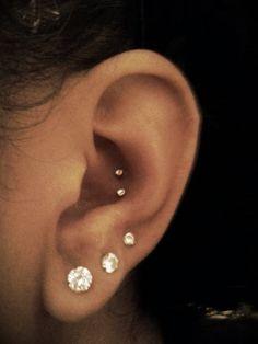 my new double conch piercing. LOVE it!