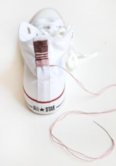 Weekend DIY project : Embroidered Chucks! - French By Design
