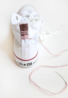 DIY Embroidered Chucks!