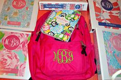 Back to school! TOTALLY monogramming my backpack next year