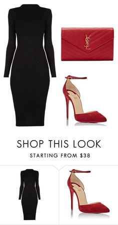 """""""Untitled #248"""" by jovanaaxx on Polyvore featuring Christian Louboutin and Yves Saint Laurent #classyoutfits"""