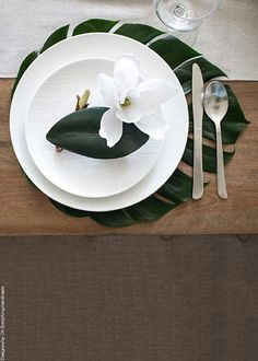 """Artificial Monstera Leaf Centerpiece Placemat in Green - 18"""" Long x 16.5"""" Wide"""
