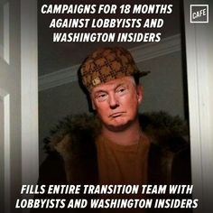 Scumbag Don drained the swamp to make room for MORE crap.