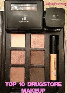 Top 10 Drugstore Makeup   Budziak Beauty Elf Makeup, Kiss Makeup, Drugstore Makeup, Love Makeup, Makeup Inspo, Makeup Inspiration, All Things Beauty, Beauty Make Up, Beauty Tips