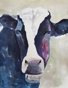 120 Best Watercolor Cow Images In 2019 Cow Painting Cow Wall Art