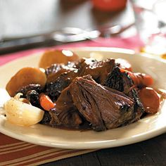 Pepsi Pot Roast.--We ♥ it! Perfect Pot Roast ...every time. The secret is the Pepsi. Cover roast with 1 can cream of Mushroom soup, next sprinkle a packet of Onion soup mix, put in carrots and potatoes, and cover with 2 cans of pepsi. Cover and bake 350 for abt. 4-5 hrs. Falls apart, melts in mouth...YUM!